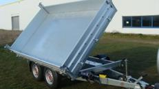 Spanien (doppelachser)  Dreiseitenkipper – Hochlader 3.500 kg gebremst E-Pumpe + Notpumpe doppelachser