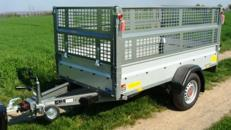 TAKE THAT (einachser)  Offener Kastenanhänger mit Laubgitteraufsatz 1300 kg  / 100 km/h