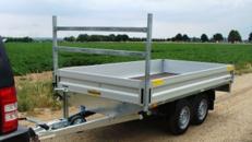 ZOMBI (doppelachser)  Offener Kastenanhänger Hochader 2000 kg  mit H-Gestell / 100 km/h