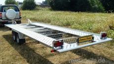 Australien (doppelachser – extra lang)  PKW Transporter kippbar doppelachser 3000 kg gebremst  extra breit – extra lang – ohne Rampen  100 km/h