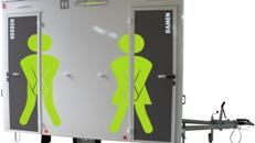 Toilettenwagen mieten / Mobile Toilette / WC-Wagen Typ:S VIP