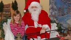 Fotoaktion Weihnachtsmann auf dem Schlitten