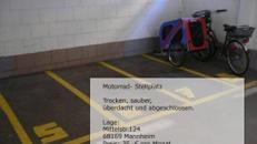 Motorrad Stellplatz Garage, Mannheim Neckarstadt