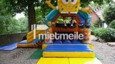 Hüpfburg  SpongeBob mit Rutsche