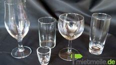 Gläser für fast jedes Getränk, Biergläser, Wassergläser, Weingläser / Mietgläser