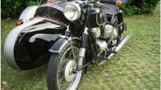 BMW R 26 Gespann oder solo, Oldtimer-Motorrad aus Bj.1956, auch für Hochzeiten geeignet
