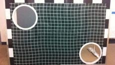 Torwand aus Alu, zwei Teile, Tornetz und Bälle
