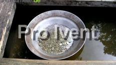 Goldwaschen, Goldwaschbecken incl. Deco