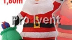 Weihnachtsmann aufblasbar, beleuchtet 180 cm groß