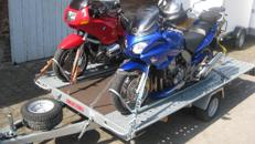 Transporter für 3 Motorräder, ankippbar