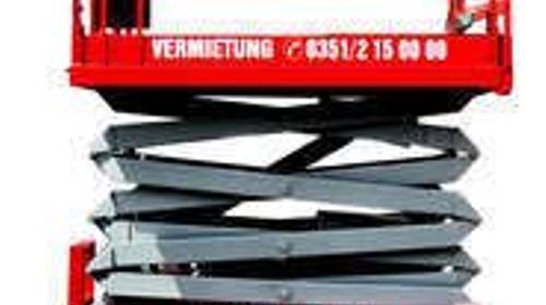 Scherenbühnen/ SB 170 - 12 E St/ Hebebühnen/ mit weißen Reifen