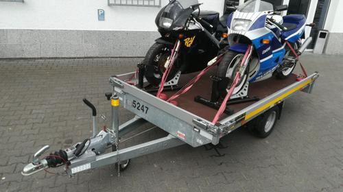Transportanhänger/Transporter für 2 Motorräder