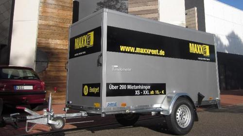 Kofferanhänger Tieflader 3x1,26m Budget
