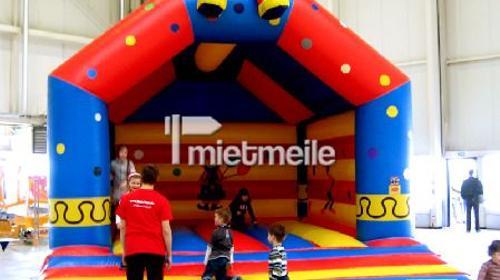 Große Hüpfburg Clown - mit Dach