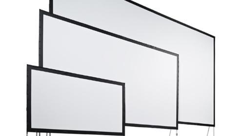 Leinwand für Beamer, Bildwand Großleinwand, Aufprojektion, Mobileleinwand, Breite 300cm