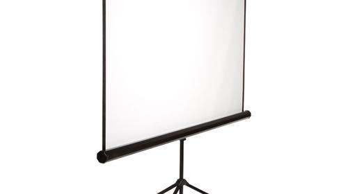Leinwand für Beamer, Bildwand Großleinwand, Aufprojektion, Mobileleinwand, Breite 180cm