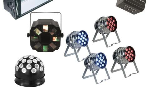 Partylicht L Komplettset Partyanlage, Lichtanlage, Beleuchtungsanlage LED, Lichteffekten, Disko