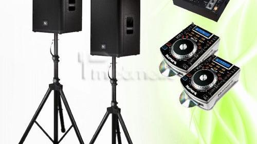 Musikanlage inkl. kleinem Lichtset