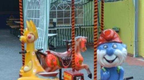 "Mini Kinderkarussell ""Schlumpfkarussell"" 3 Kinder"