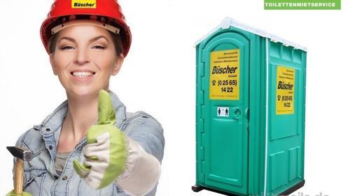 Bau-WC, Mietklo, Toilettenkabine, anschlussfreie Toilette, Klo,