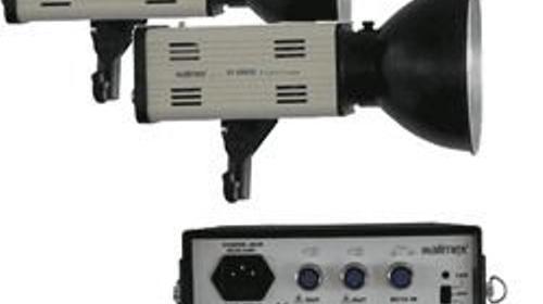 Portables Studio / Blitzanlage Walimex 300 mit CAR