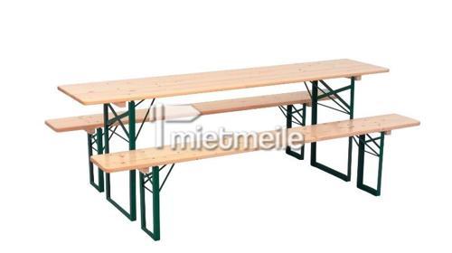 Bierzeltgarnitur - 1x Tisch 2,20x0,50m + 2x Bank