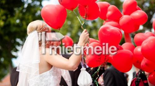 Heliumballons, Helium und Herzen