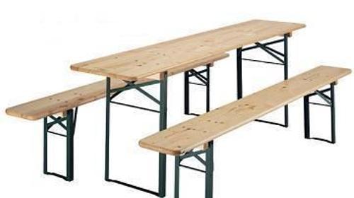 Bierzeltgarnitur - Bierbank - Tisch - Bank - Holzt