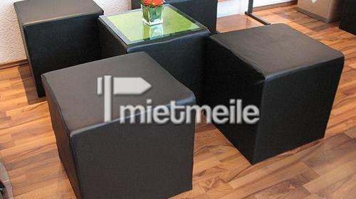 Sitzwürfel schwarz