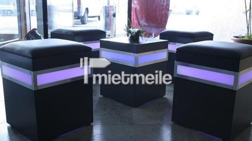 Sitzwürfel anthrazit. LED-beleuchtet