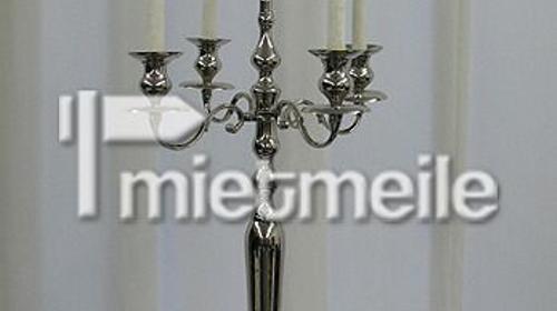 Kerzenleuchter silber 5-armig 100cm