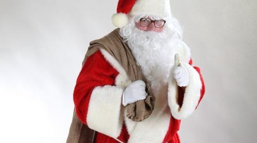 Weihnachtsmann, auch mit Engel