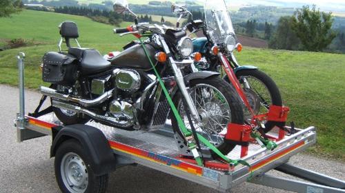 Motorradanhänger für zwei Motorräder