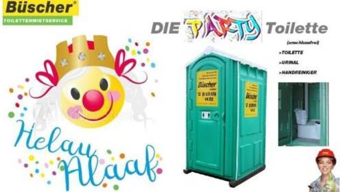 Partytoilette, GRATIS Lieferung deutschlandweit | Toilette für Karneval, Toilettenvermietung,
