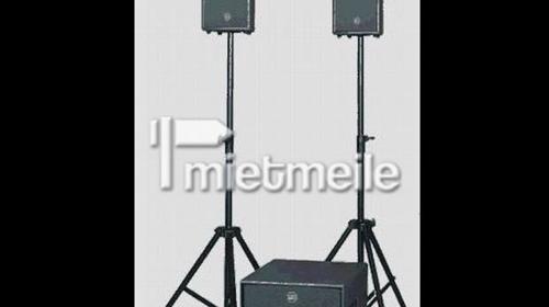 PA / Musikanlage komplett für Hochzeit / Party im Großraum Stuttgart zu vermieten