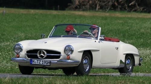 Oldtimer / Mercedes / Type 190 SL / Sportwagen / Auto / Cabrio