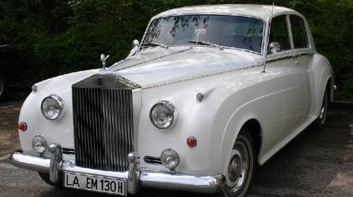 Hochzeitsauto  Rolls-Royce in weiß