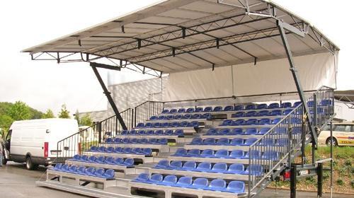 Mobile Tribüne FreeSTAND - 114 Sitzplätze