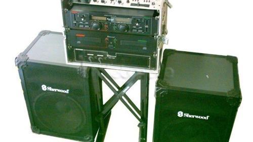 Leihanlage DJ Musikanlage m.Doppel CD Player ,USB