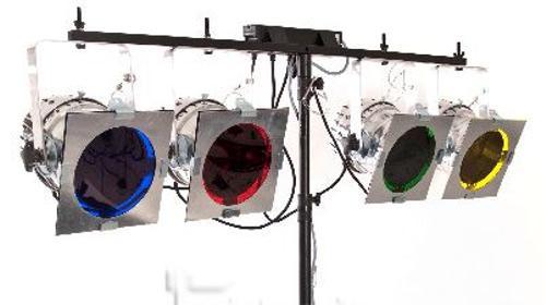 Party-Lichtanlage 8x PAR56 inkl. Lichtsteuerung