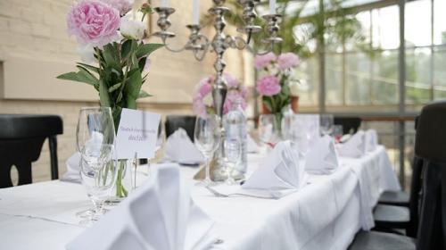 Tischdecke, Damast, weiß / 130 cm x 220 cm