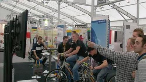 Mountainbike Simulator 1 Rad oder auch 2 Räder