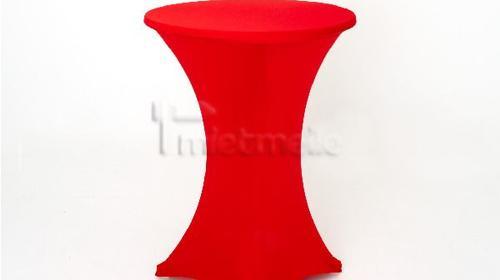 Stretch - Husse für Stehtisch 80cm, rot