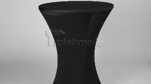 Stehtisch 80cm - mit Husse (schwarz)
