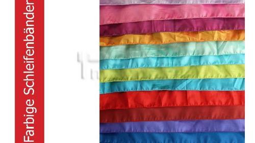 Schleifenbänder aus Taft in verschiedenen Farben