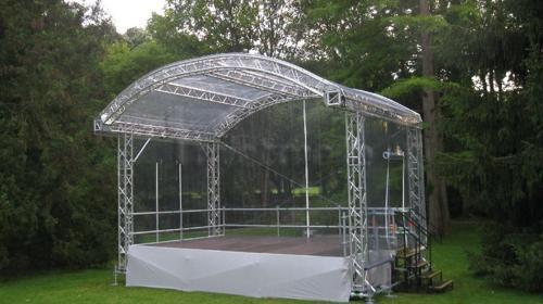 Rundbogenbühne 6x4m