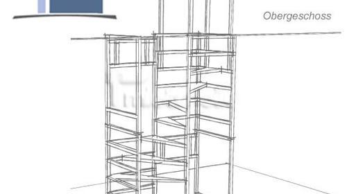 Wir vermieten Bautreppen, Bautreppe mieten