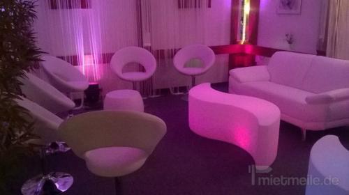 Lounge Tisch beleuchtet