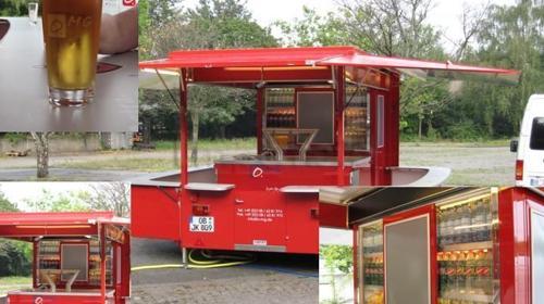 Bierwagen / Ausschankwagen DLW-1 mit Kühlraum