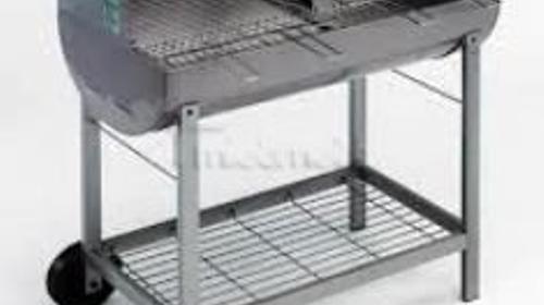 Holzkohlegrill - Grill - Grillwagen mit Rädern - G